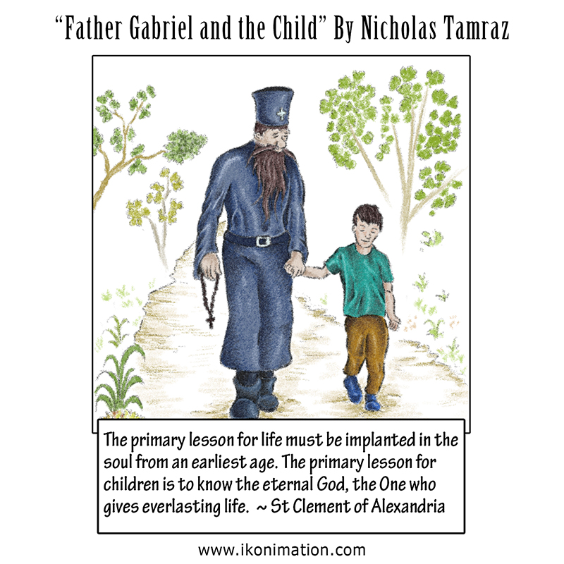 Father Gabriel and the Child comic strip