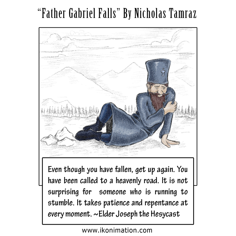 Father Gabriel Falls comic strip