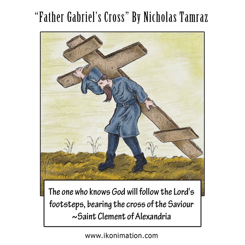 Father Gabriel's Cross comic strip